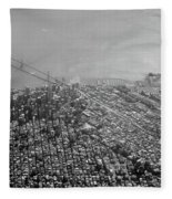 Aerial View Of Downtown San Francisco From The Air Fleece Blanket