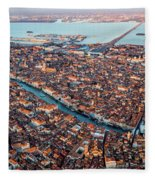 Aerial View Of Grand Canal, Venice, Italy Fleece Blanket