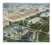 Aerial View Of The Smithsonian National Museum Of African Americ Fleece Blanket