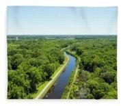 Aerial View Of Vegetation On Landscape Fleece Blanket