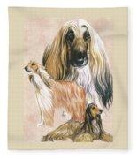 Afghan Hound Alteration Fleece Blanket by Barbara Keith