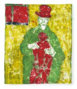After Billy Childish Painting Otd 23 Fleece Blanket