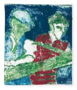 After Billy Childish Painting Otd 33 Fleece Blanket