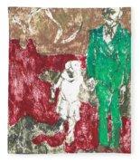 After Billy Childish Painting Otd 43 Fleece Blanket