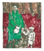 After Billy Childish Painting Otd 45 Fleece Blanket