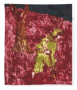 After Billy Childish Painting Otd 7 Fleece Blanket