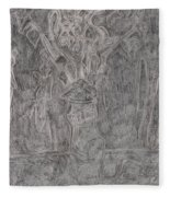 After Billy Childish Pencil Drawing 1 Fleece Blanket