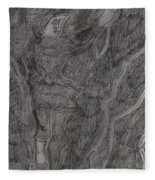 After Billy Childish Pencil Drawing 11 Fleece Blanket