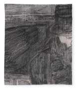 After Billy Childish Pencil Drawing 32 Fleece Blanket
