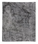 After Billy Childish Pencil Drawing 5 Fleece Blanket