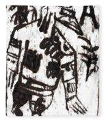 After Mikhail Larionov Black Oil Painting 3 Fleece Blanket