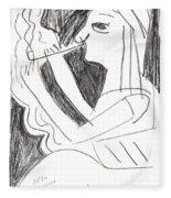 After Mikhail Larionov Pencil Drawing 1 Fleece Blanket