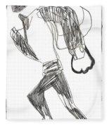 After Mikhail Larionov Pencil Drawing 12 Fleece Blanket