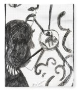 After Mikhail Larionov Pencil Drawing 13 Fleece Blanket