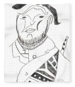 After Mikhail Larionov Pencil Drawing 2 Fleece Blanket