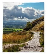 After The Rain On The Trail Fleece Blanket