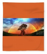 After The Storm, California Foothills                        Fleece Blanket