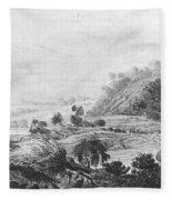 After The Tornado  Pavel Petrovich Svinin 1787 88-1839 Fleece Blanket