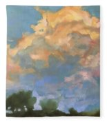 Afternoon Clouds Fleece Blanket