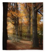 Afternoon Light In Fall Colors Of New England Fleece Blanket