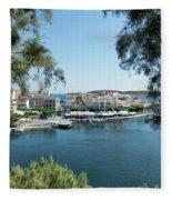 Agios Nikolaos Crete Fleece Blanket