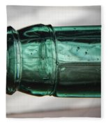 Air Bubbles In Vintage Glass Fleece Blanket