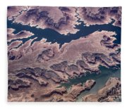 Air View Of The Colorado River Fleece Blanket