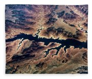 Air View Of The Grand Canyon Fleece Blanket