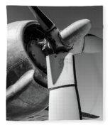 Airplane Propeller Fleece Blanket