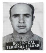 Al Capone Mugshot 1939 - T-shirt Fleece Blanket