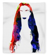 Alanis Watercolor II Fleece Blanket