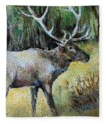 Alaska Elk Fleece Blanket