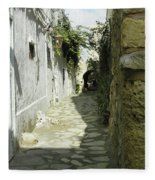 alley in Hammamet, Tunisia Fleece Blanket
