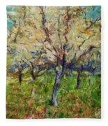 Almond Orchard Fleece Blanket
