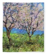 Almonds In Full Bloom Fleece Blanket