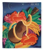 Aloha Welcome To Hawaii, 1932 Poster Fleece Blanket