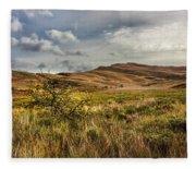 Along The Scottish Highlands Fleece Blanket