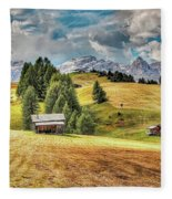 Alpine Beauty Fleece Blanket