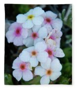 Alpine Rockjasmine Up Close Fleece Blanket