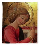 Altarpiece Angel Antique Christian Catholic Religious Art Fleece Blanket