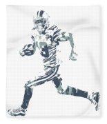 Amari Cooper Dallas Cowboys Pixel Art 3 Fleece Blanket