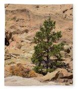 Amazing Life On The Sandstone Cliffs Fleece Blanket