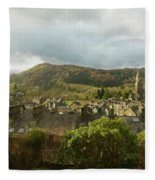 Ambleside Rooftops In The Lake District National Park Fleece Blanket