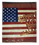 American Coyote Ugly Fleece Blanket