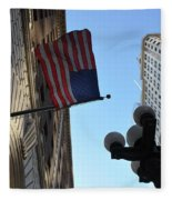 American Flag Downtown La Fleece Blanket