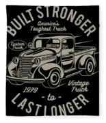 Americas Toughest Truck Fleece Blanket