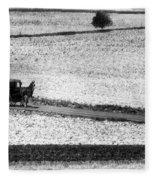 Amish Country Lancaster Pennsylvania Bw Fleece Blanket