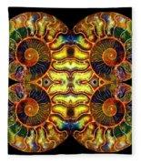 Ammonite Mandela - 044.1 Fleece Blanket
