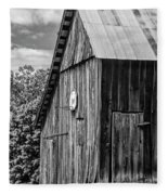An American Barn Bw Fleece Blanket