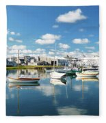 An Idyllic Boating Day Fleece Blanket